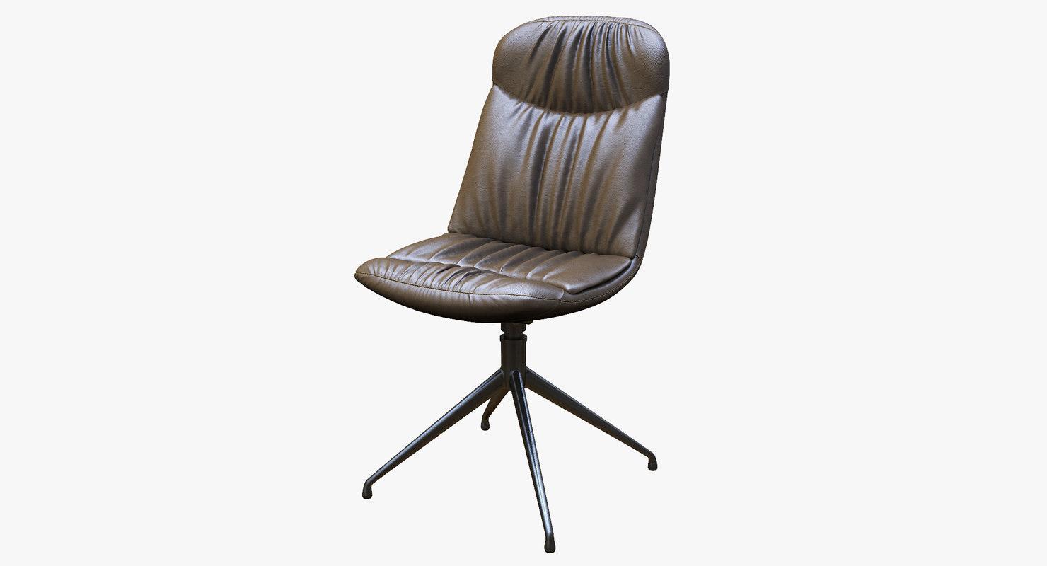 swiveling chair cattelan kelly 3D model