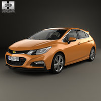 3D chevrolet hatchback cruze model