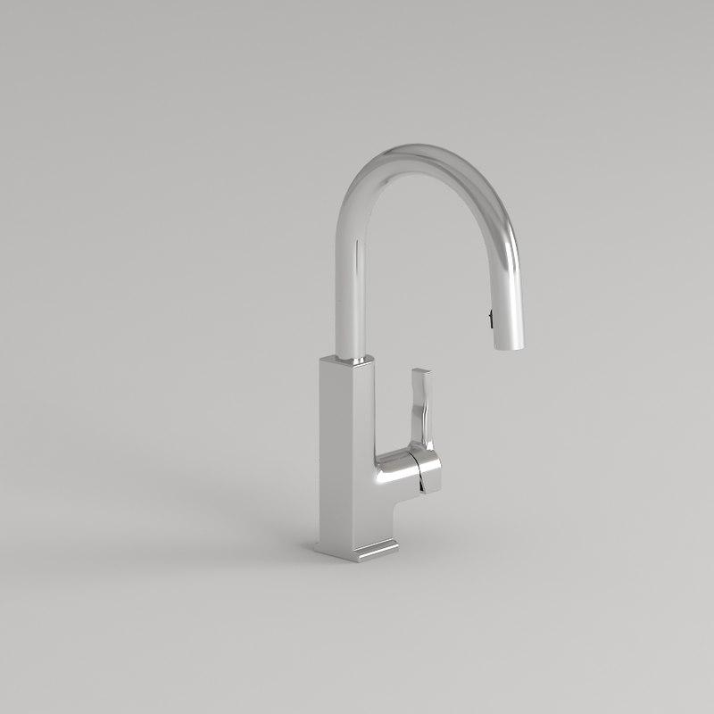 3D faucet chrome kitchen