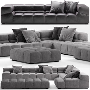 3D model sofa seat furniture