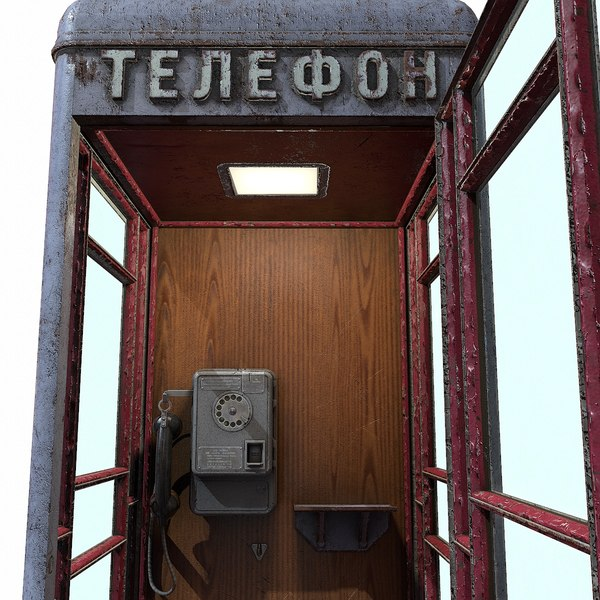 3D ussr payphone booth amt-47