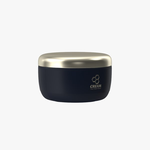 cosmetic cream jar 3D