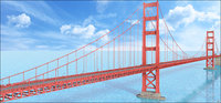 3D golden gate bridge san francisco model