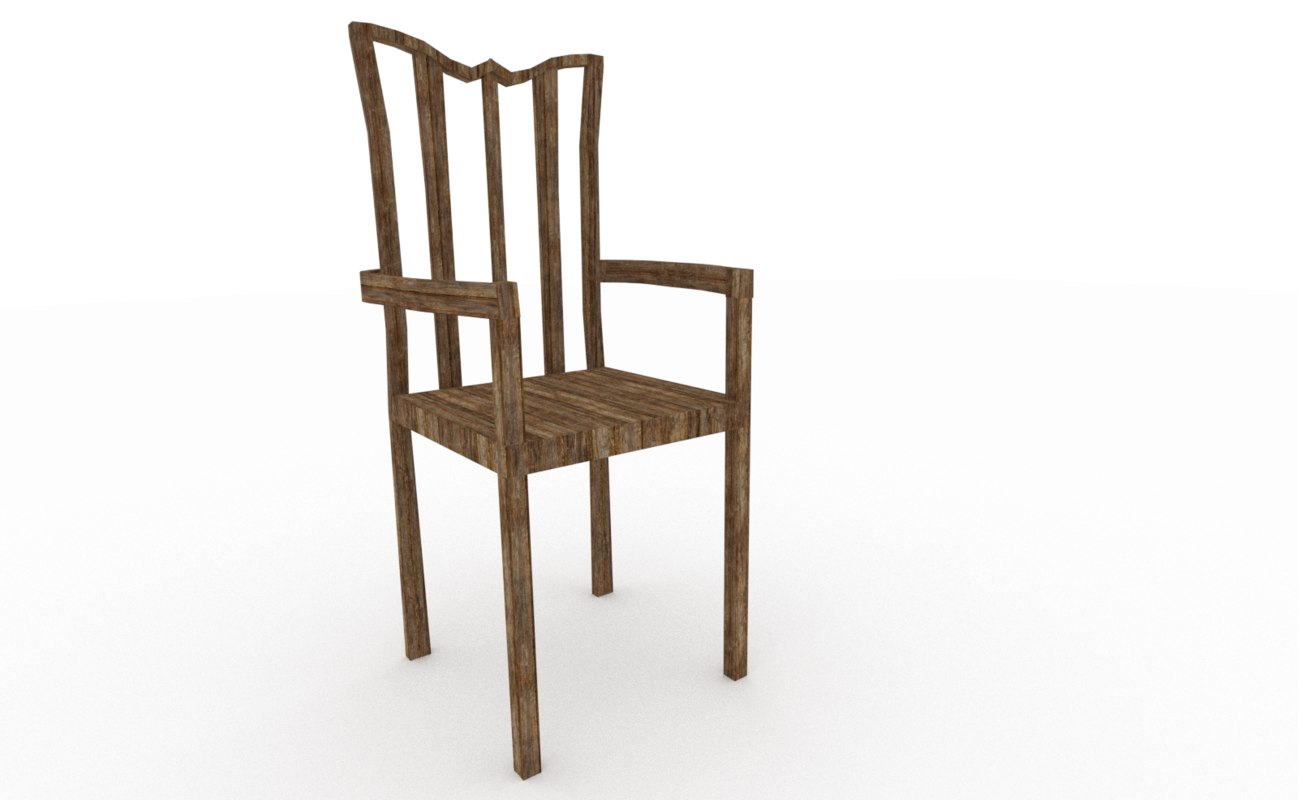 3D chair blender
