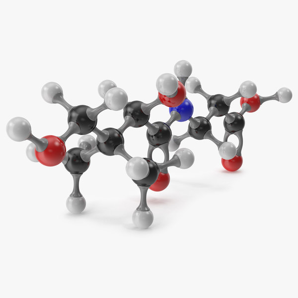 3D pantothenic acid molecular model
