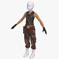 Wild West World Boy realistic ammunition belt holster bullets leather gloves jacket pants boots with mannequin head steampunk