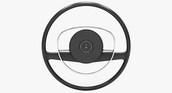 mercedes benz 280 steering wheel 3D