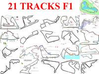 track pack f1 2017 3D model