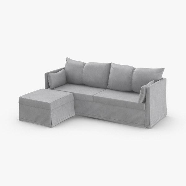 3D scandinavian sofa model