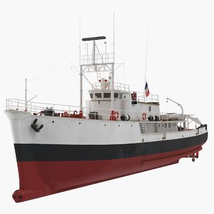 research vessel calypso 3D model