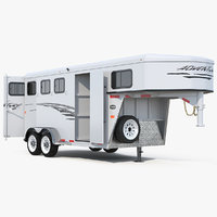 horse trailer rigged model
