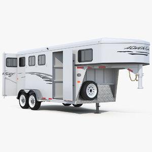 horse trailer rigged model