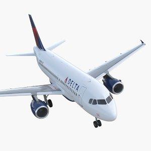 airbus a319 delta air lines 3D model
