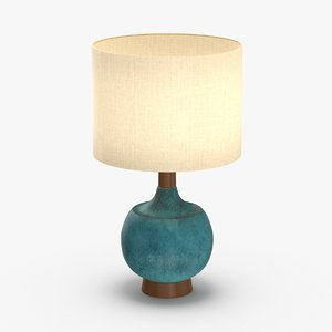 3D mid-century modern lamp model