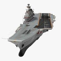 Admiral Kuznetsov Aircraft Carrier Rigged