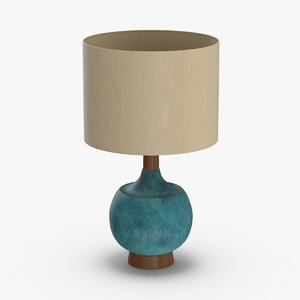 mid-century modern lamp 3D model