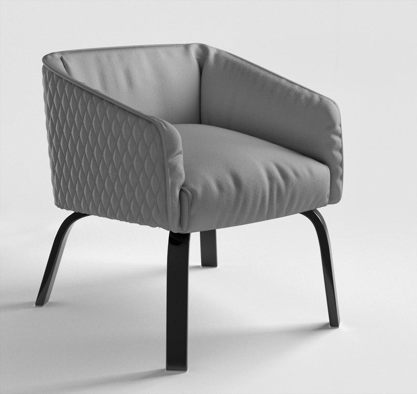 lolita armchair diamond 3D