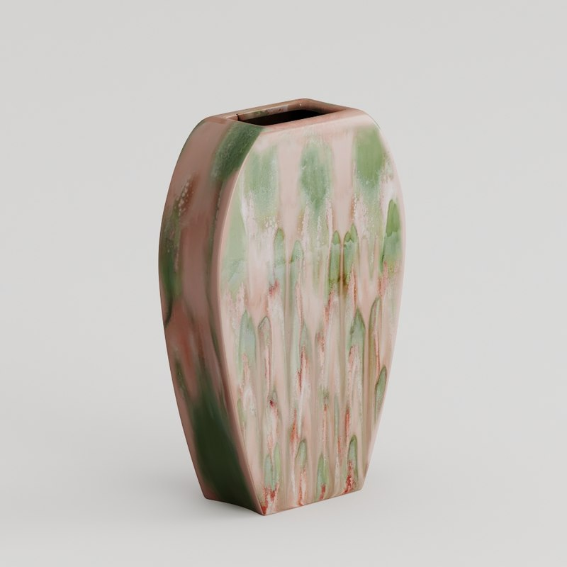 3D ceramic decorative vase