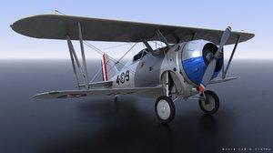 grumman f2f-1 marines 1937 3D model