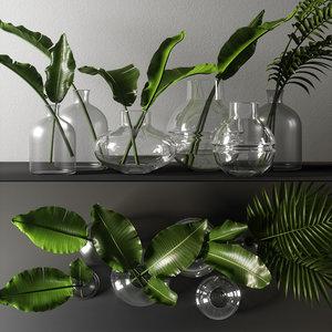 decorative branch set 3D model
