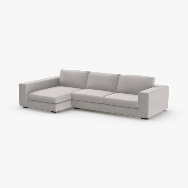 3D model scandinavian 5 seater sofa