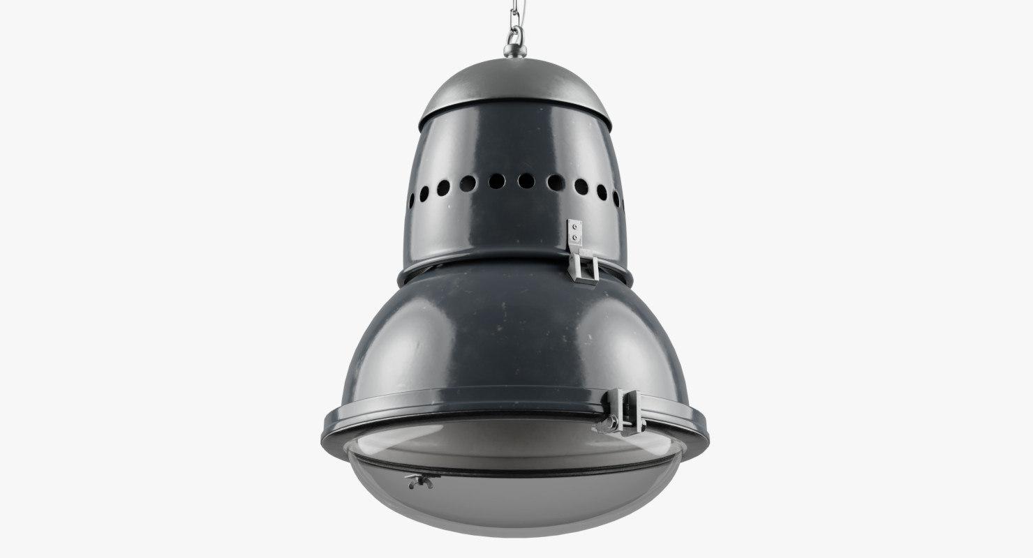 3D vintage hungarian industrial light