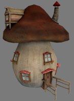 3D model mushroom house