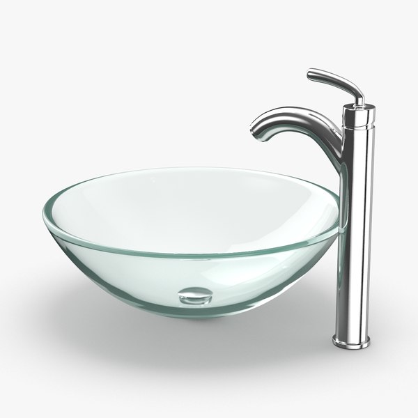 3D contemporary bathroom sink model