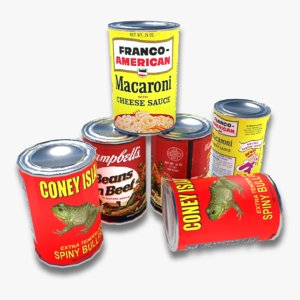 3D canned food 3 variations