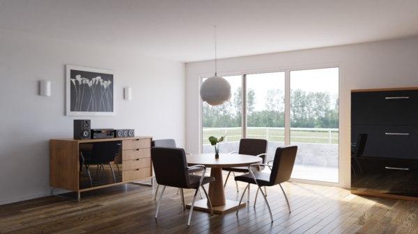 3D model room interior
