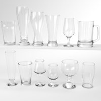 blender set beer glass 3D model