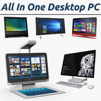 All In One Desktop PC 3D Models Collection 2