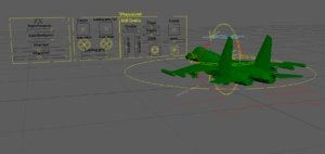 3D rigged fighter jet
