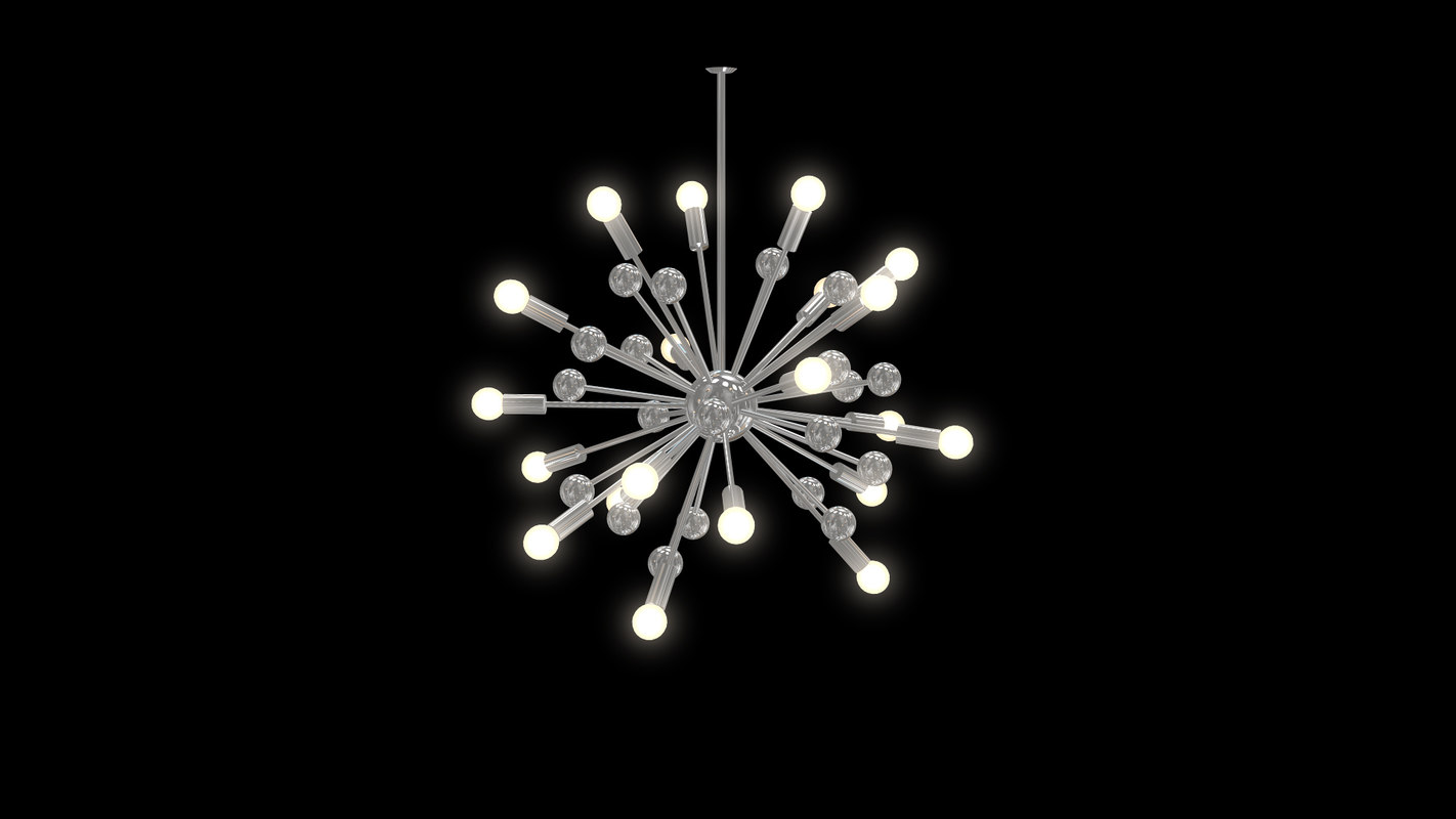 3D modern chandelier