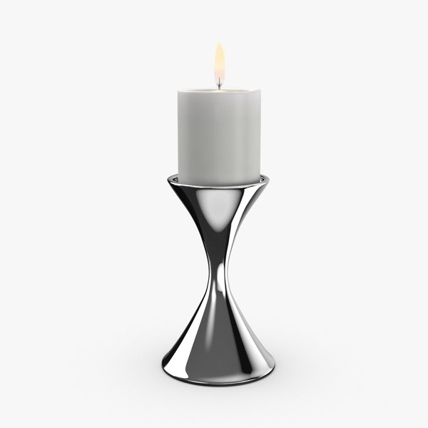 3D model contemporary candle holder -