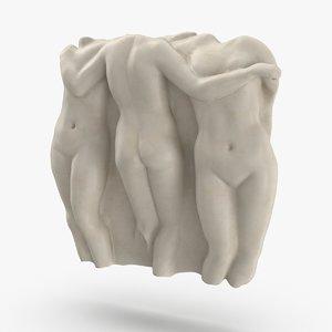 classical wall sculpture 3D model