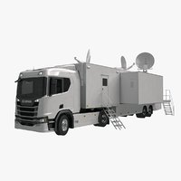 scania tv trailer 3D model