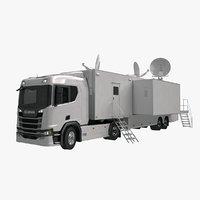 scania tv trailer 3D model