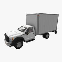realistic f-550 box van 3D model