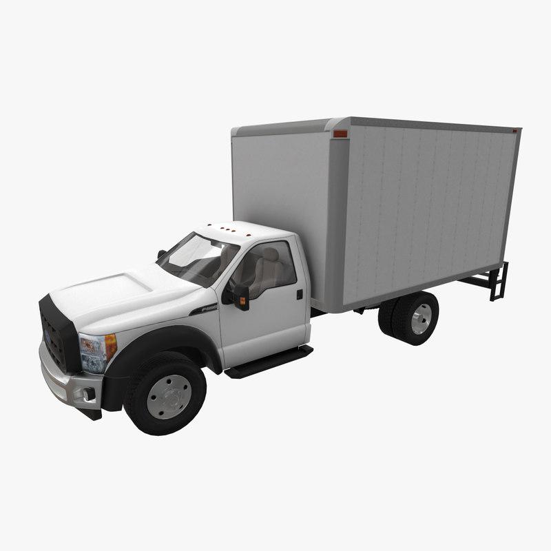 realistic f-550 box van 3D model