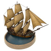 3D pirate games sails model