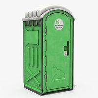 mobile toilet 3D