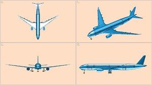 airbus a350-900 rev 3 3D