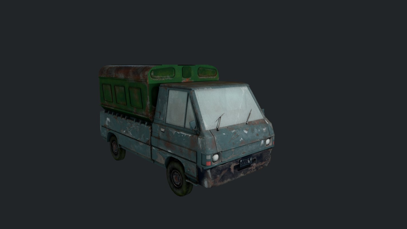 3D abandoned vehicle