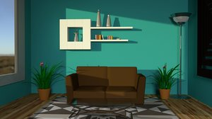 living-room table 3D model
