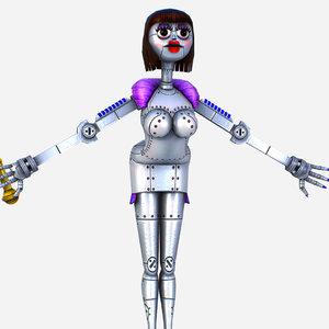 silver musical robot drone 3D model