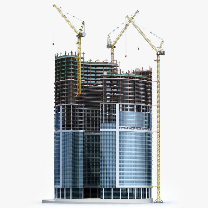 3D tower crane liebherr 710