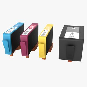 hp ink cartridges 3D model