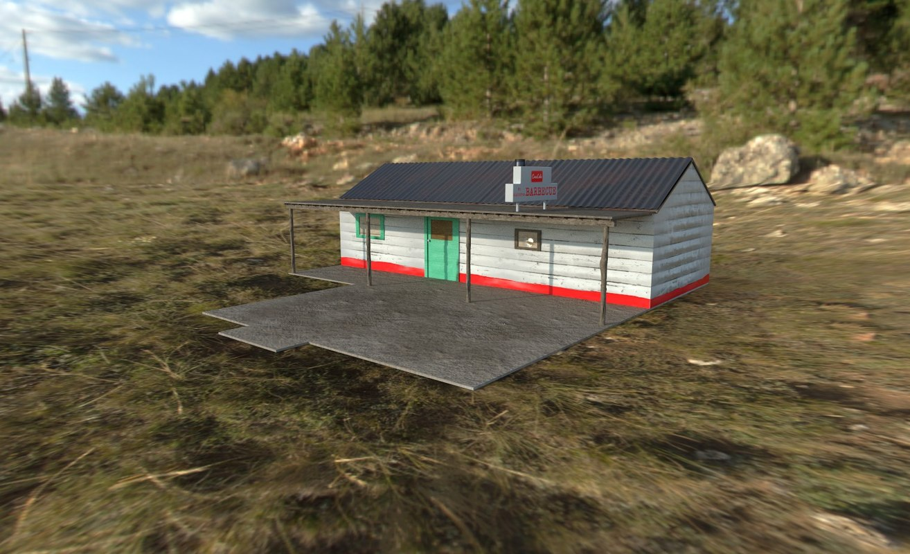 3D gas station texas chainsaw