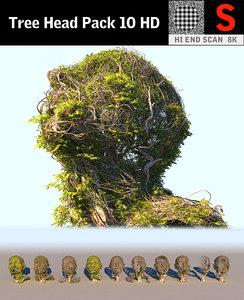 tree head pack 10 3D model